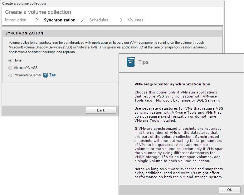 Configuring Volume Collections